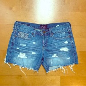 Lucky Brand Cut-Off  Distressed Jean Shorts 6/28
